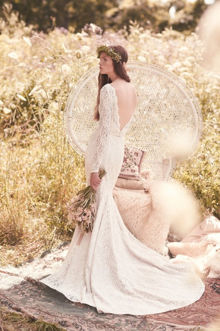 Back of 2050 Wedding Dress - Mikaella Spring 2016 Bridal Collection