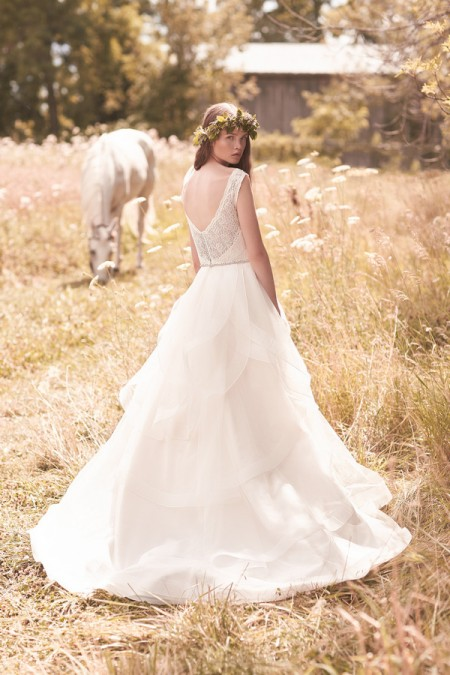 Back of 2051 Wedding Dress - Mikaella Spring 2016 Bridal Collection