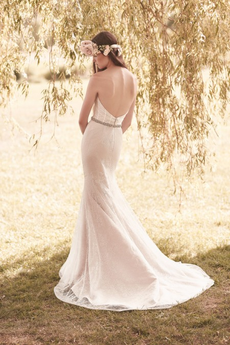 Back of 2052 Wedding Dress - Mikaella Spring 2016 Bridal Collection