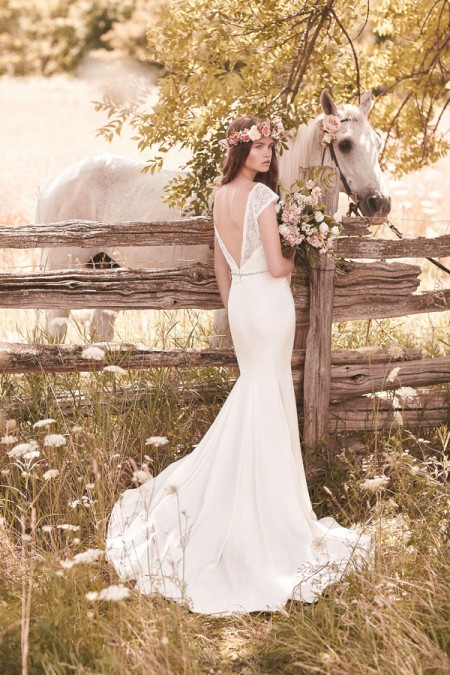 Back of 2057 Wedding Dress - Mikaella Spring 2016 Bridal Collection