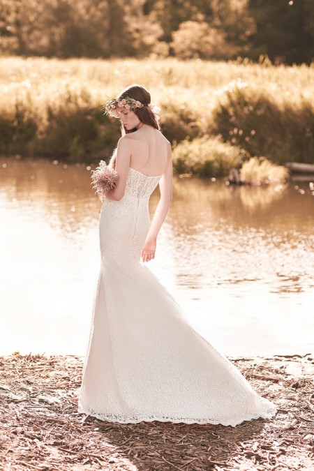 Back of 2069 Wedding Dress - Mikaella Spring 2016 Bridal Collection