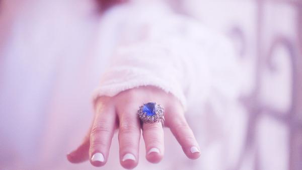 Ring on bride's finger