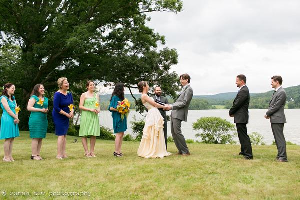 Outdoor wedding ceremony Finger Lakes
