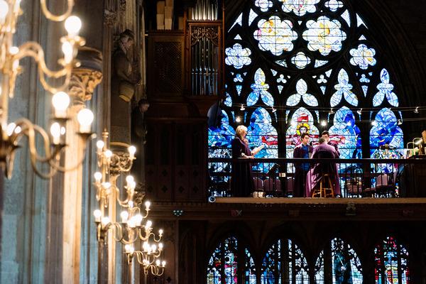 Choir on balcony of St Etheldreda's church