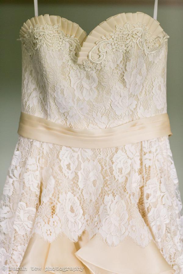 Detail on Leanne Marshall wedding dress
