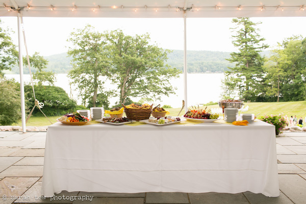 Wedding food table
