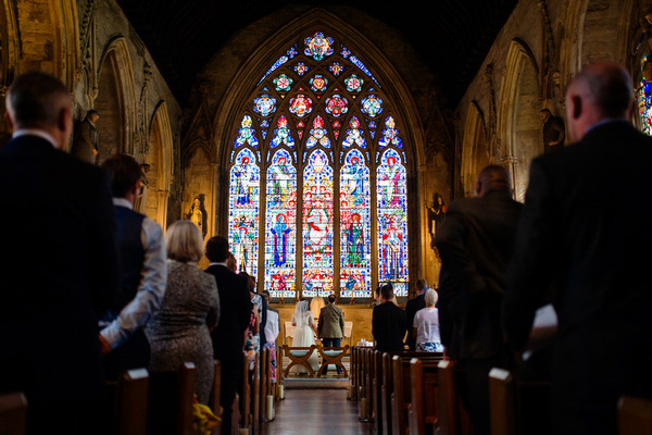 Wedding ceremony in St Etheldreda's church