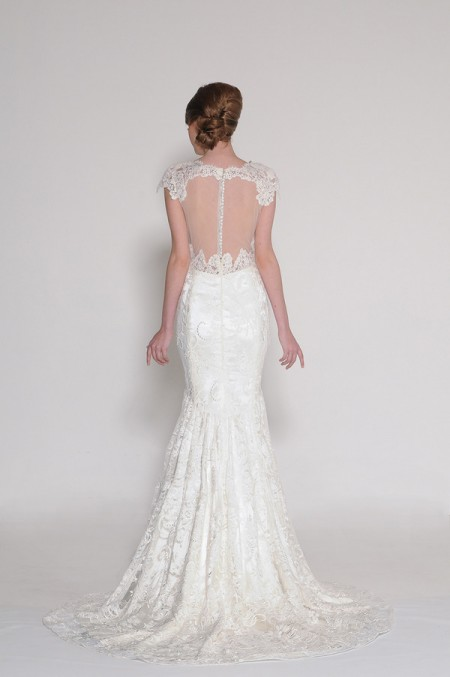 Back of 3898 Candice Wedding Dress - Eugenia Couture Signature Spring 2016 Bridal Collection