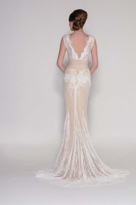 Back of 4005 Amelia Wedding Dress - Eugenia Couture Signature Spring 2016 Bridal Collection