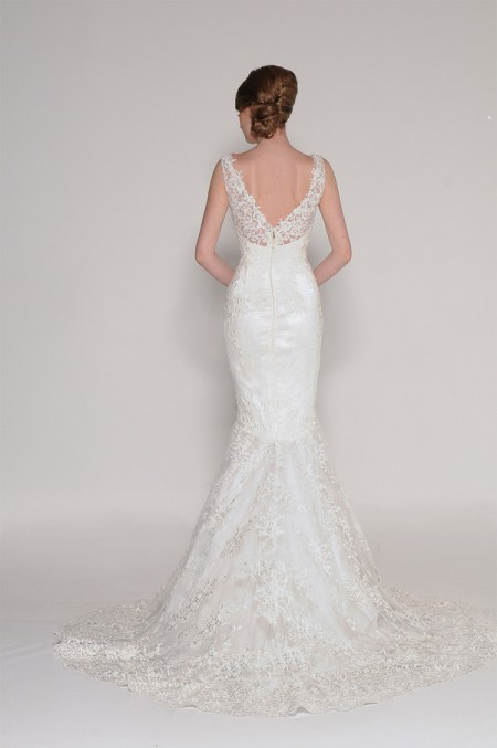 Back of 4010 Cynthia Wedding Dress - Eugenia Couture Signature Spring 2016 Bridal Collection