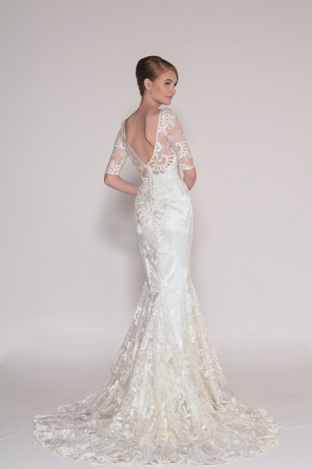 Back of 4011 Delia Wedding Dress - Eugenia Couture Signature Spring 2016 Bridal Collection