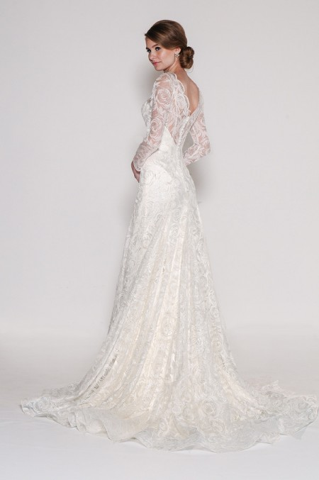Back of 4012 Luna Wedding Dress - Eugenia Couture Signature Spring 2016 Bridal Collection