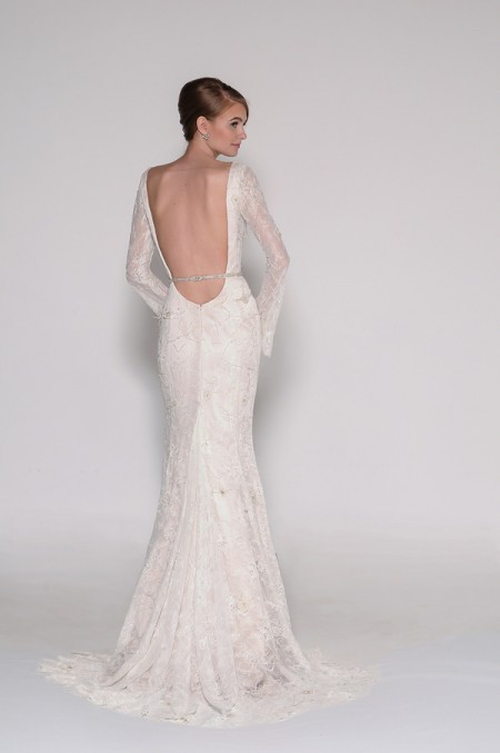 Back of 4013 Fiona Wedding Dress - Eugenia Couture Signature Spring 2016 Bridal Collection
