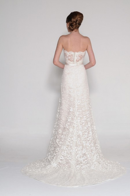 Back of 4014 Phoebe Wedding Dress - Eugenia Couture Signature Spring 2016 Bridal Collection