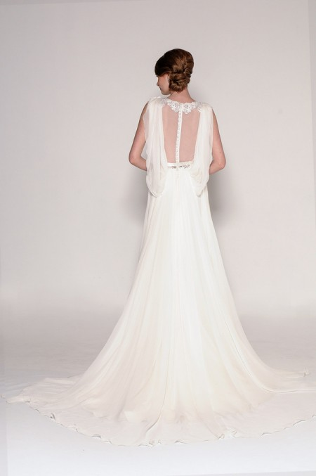 Back of 4016 Harmony Wedding Dress - Eugenia Couture Signature Spring 2016 Bridal Collection