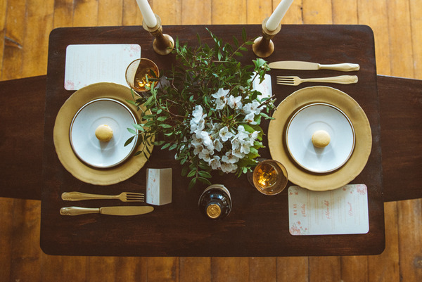 Rustic wedding table display