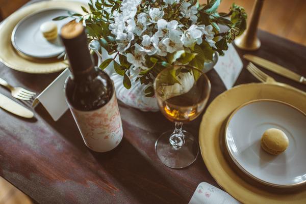 Rustic wedding table items