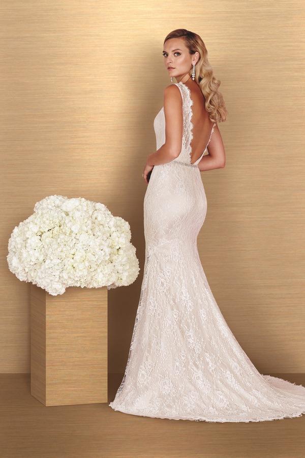 Back of 4655 Wedding Dress - Paloma Blanca Spring 2016 Bridal Collection