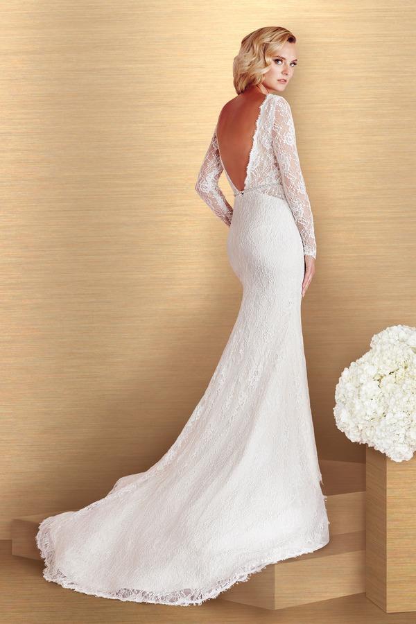 Back of 4662 Wedding Dress - Paloma Blanca Spring 2016 Bridal Collection