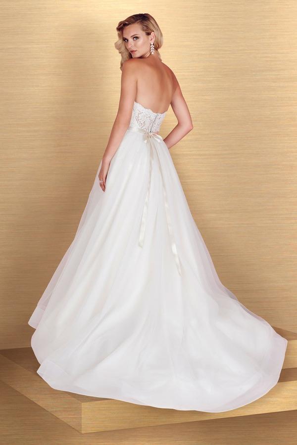 Back of 4668 Wedding Dress - Paloma Blanca Spring 2016 Bridal Collection