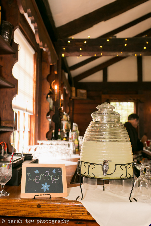 Lemonade dispenser at wedding