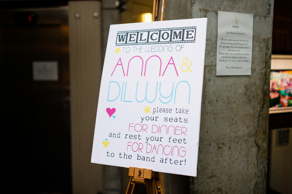 Wedding welcome sign at Roast, Borough Market
