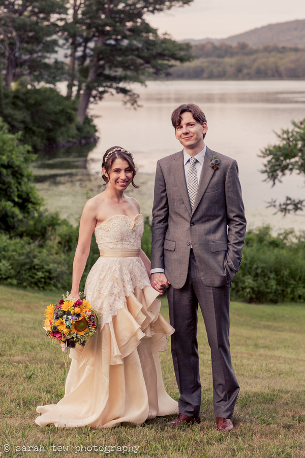 Bride and groom by Finger Lakes