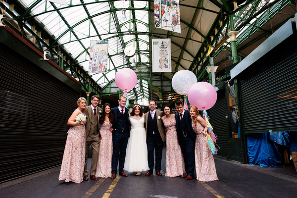 Bridal party in Borough Market