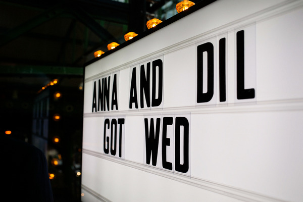 Anna and Dil Got Wed cinema sign