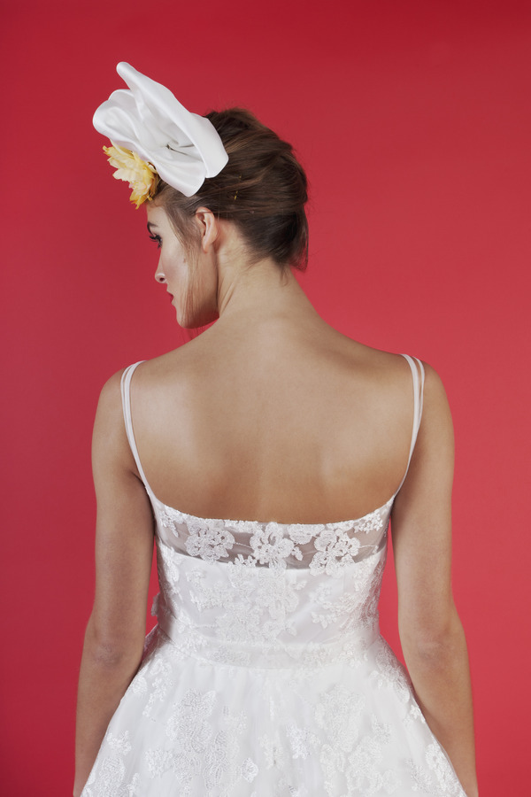 Back of Cherry Baby Wedding Dress - Kitty and Dulcie Ruby Bloom 2016 Bridal Collection