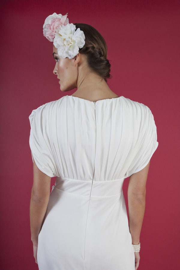 Back of Crimson Doll Wedding Dress - Kitty and Dulcie Ruby Bloom 2016 Bridal Collection