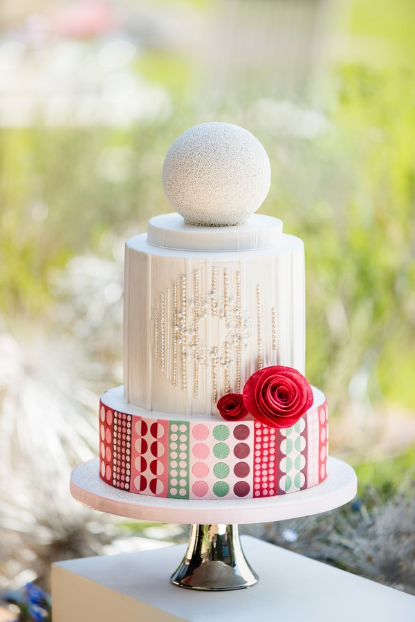 Wedding cake from Simply Modern Wedding Cakes
