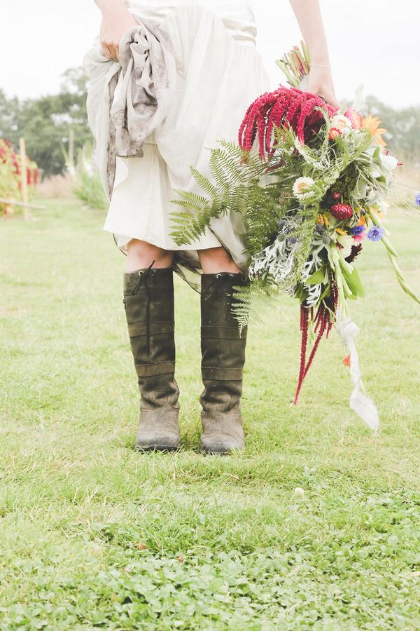 Bride's boots