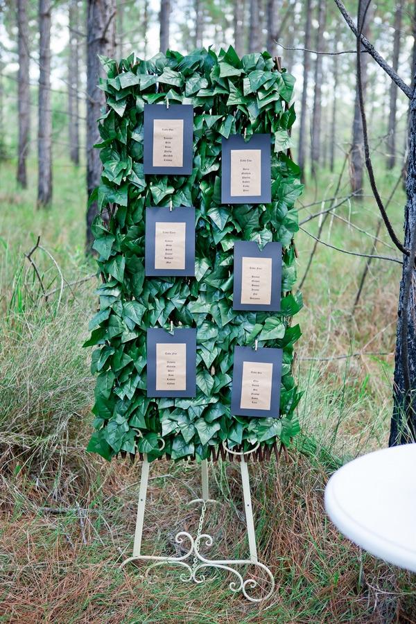 Leaf wedding seating plan