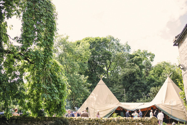 Tipi in grounds of Woodhill Hall