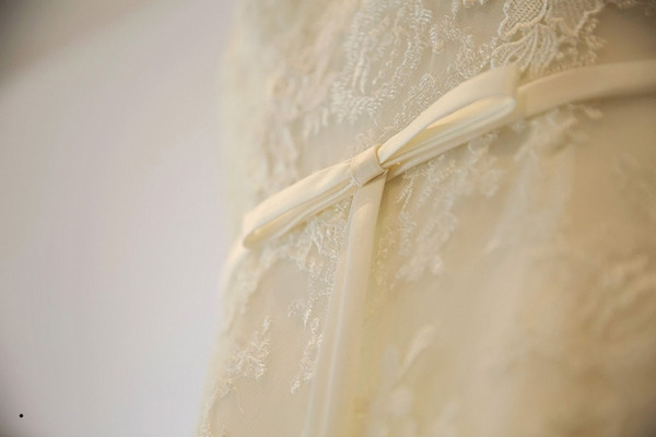 Detail on wedding dress