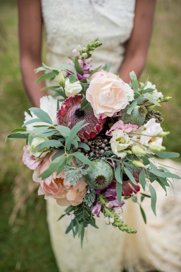 Bride's rustic wedding bouquet