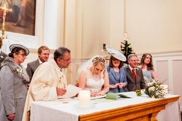Signing marriage register