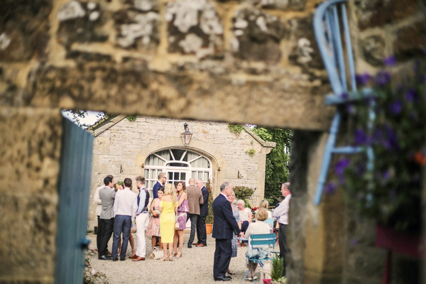 Wedding guests at Woodhill Hall