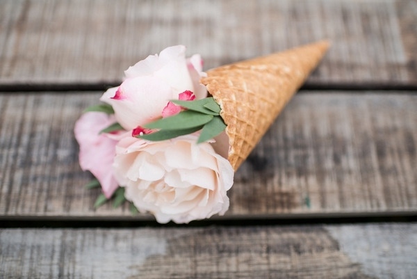 Cone with flowers