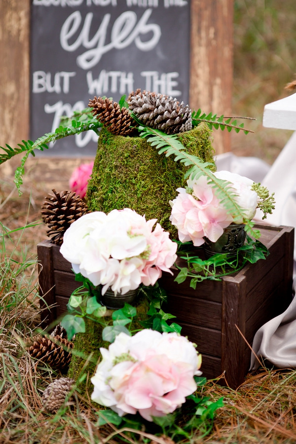 Flowers and foliage wedding styling