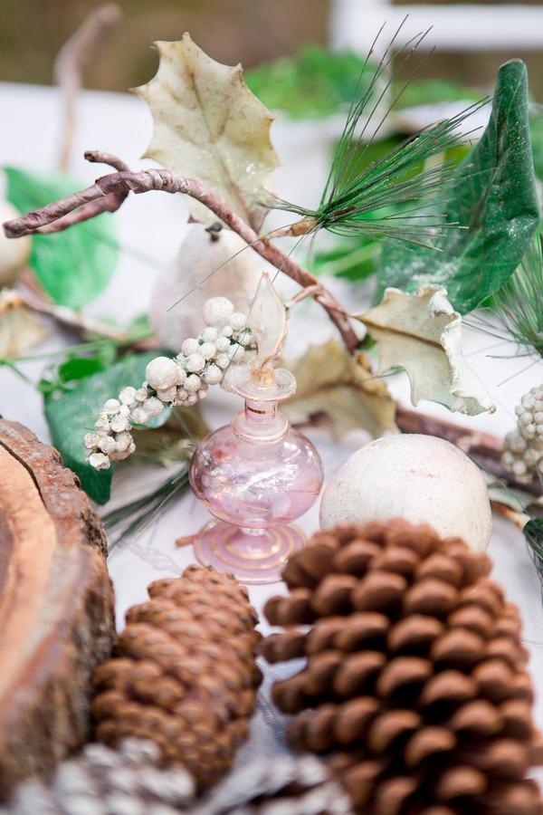 Pine cones on wedding table