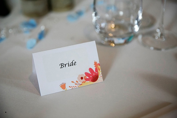Bride name place card
