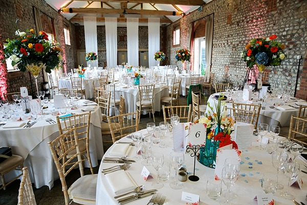 Wedding tables in Farbridge wedding venue