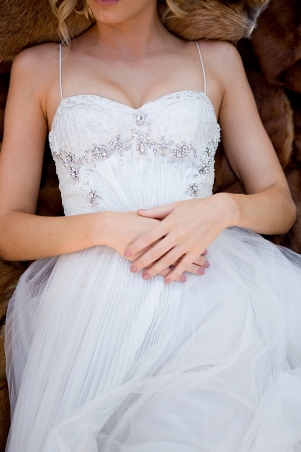 Bride's hands together