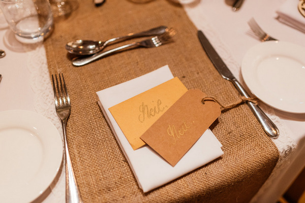 Cards on wedding table