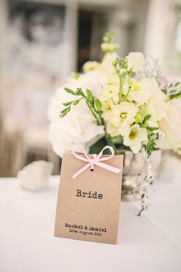 Bride name tag