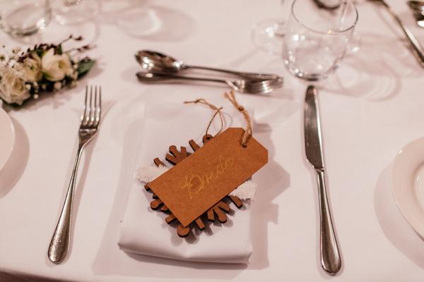 Rustic wedding name card