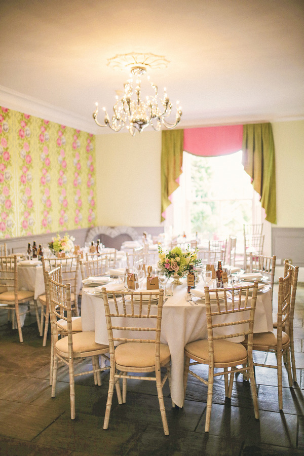 Wedding tables in Woodhill Hall