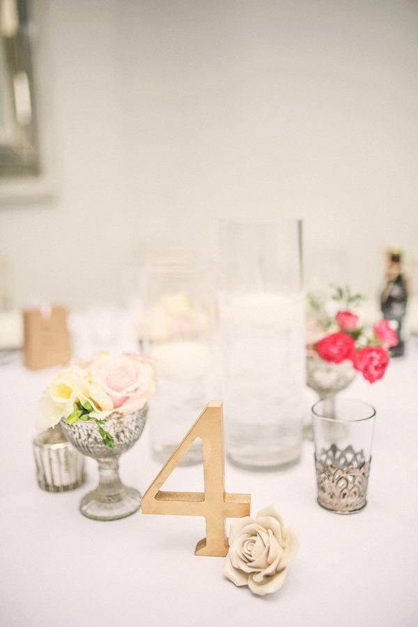 Pretty wedding table styling